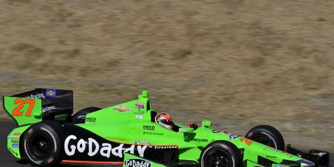 The familiar green color of the No. 27 IndyCar will likely be gone next year. Go Daddy is leaving and Andretti Autosport will soon announce a new primary sponsor for the car.