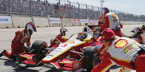 Helio Castroneves will get strategy help from Team Penske owner Roger Penske this weekend in the IndyCar season finale.