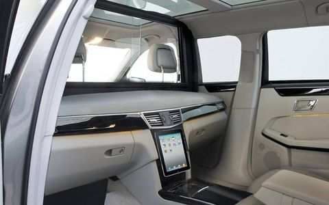 The interior can be customized in a number of different ways, and this version seems rather elegant, though it might take a white to get used to a dash without a steering wheel.