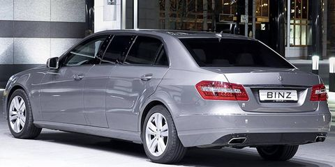 The BINZ Business-Limousine is perhaps the sole coachbuilt personal limo based on the E-class.