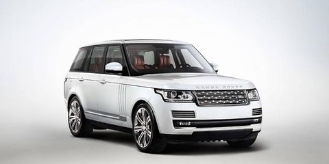 When revealed, the Range Rover L will have longer rear doors. Pictured here is the standard wheelbase version; Land Rover has not yet published LWB version photos.