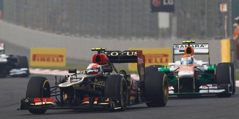 Romain Grosjean was an unlikely podium finisher in India after starting the Formula One race in 17th spot on the grid.