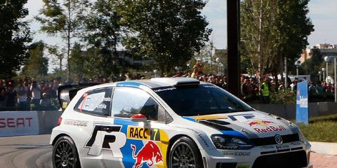 World Rally Championship driver Jari-Matti Latvala leads the way in Spain.