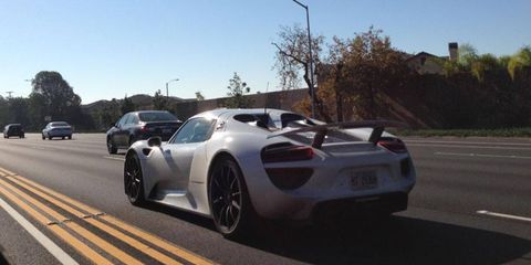 A reader spotted this 918 south of LA.