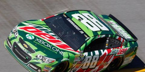 Dale Earnhardt Jr. finished second at Talladega on Sunday to keep his slim NASCAR Chase hopes alive.