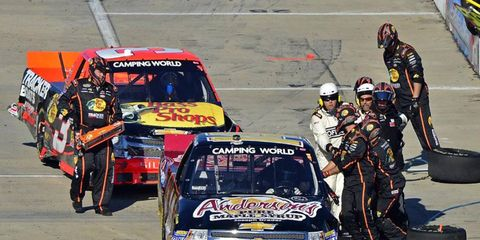 The problems between Dillon and Harvick extended into pit road.