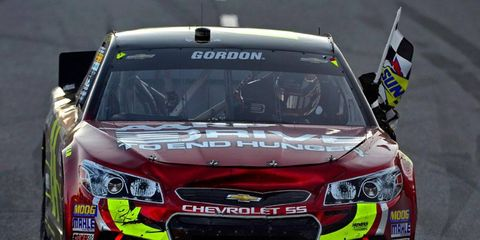 Jeff Gordon won at Martinsville on Sunday to move into third place in the NASCAR Sprint Cup Series points standings.