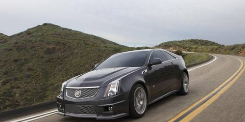 The 2014 Cadillac CTS-V Coupe has a considerable amount of