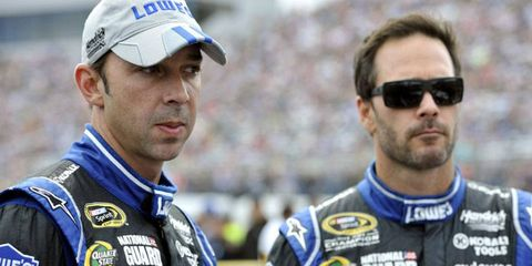 Chad Knaus, left, has been Jimmie Johnson's crew chief since 2002.
