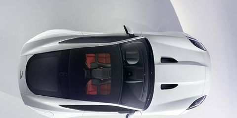 The Jaguar F-Type Coupe will ditch the power roof for a panoramic one.