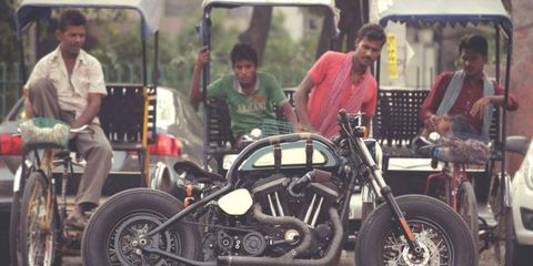 We never thought of India as a hotbed of custom motorcycle-building. We may have to reconsider.