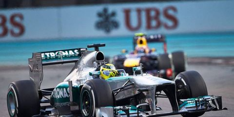 Nico Rosberg scored some valuable points for Mercedes in the Formula One Constructors' Championship with his third place finish at Abu Dhabi.