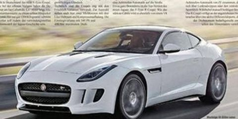 The Jaguar F-Type Coupe leaked in photos before its LA reveal.