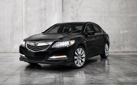 The 2014 Acura RLX Sport Hybrid gets a 3.5-liter V6 making 301 hp.