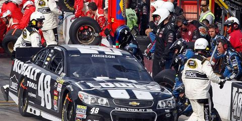 Jimmie Johnson comes into Sunday's race at Homestead with a healthy 28-point lead over Matt Kenseth.