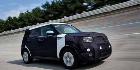 The Kia Soul EV has an estimated range of 120 miles.