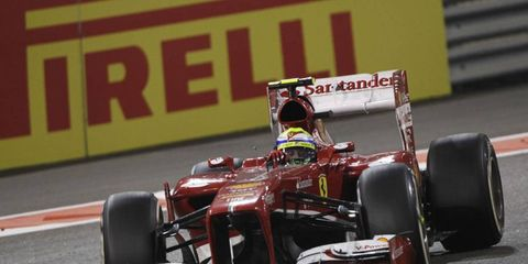 Massa has just 106 points in the 2013 Formula One season and is 241 points behind leader Sebastian Vettel.