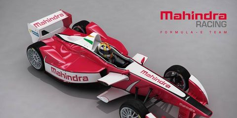 Mahindra Racing supplied this look at what the team's Formula E entry will look like on the grid in 2014.