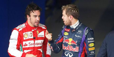 While Sebastian Vettel, right, is clearly No. 1 in the standing, who is No. 1 in the eyes of the drivers on the Formula One grid?