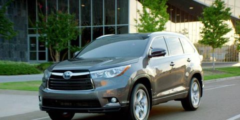 The 2014 Toyota Highlander Hybrid debuted at the LA Auto Show.