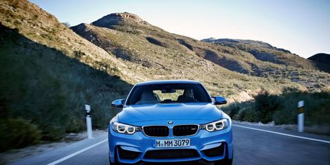 The BMW M3 and M4 are set to debut at the Detroit auto show.