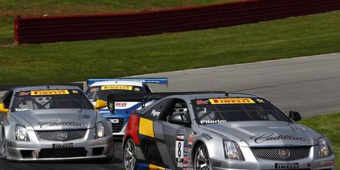 Andy Pilgrim leads his competitors during a Pirelli World Challenge event in Ohio this summer.