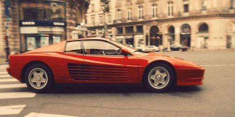 Tire, Wheel, Mode of transport, Automotive design, Vehicle, Land vehicle, Transport, Car, Red, Automotive parking light,