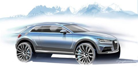 A new Audi Allroad concept will debut at the 2014 Detroit auto show.
