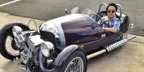 The Morgan 3 Wheeler is registered as a motorcycle. Perfect.