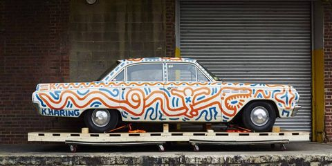 This Buick Special is in Haring's traditional style and is untitled.