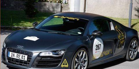 The first version of the Audi R8 e-tron, shown here, won the Silvretta E-Auto Rally Montafon in 2010.