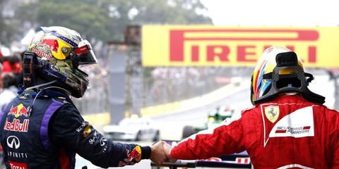 Sebastian Vettel, left, and Fernando Alonso are both taking some time away from Formula One activities.