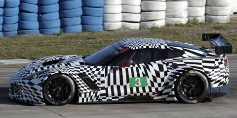 The Corvette C7.R took to the track at Sebring International Raceway in Florida on Monday.