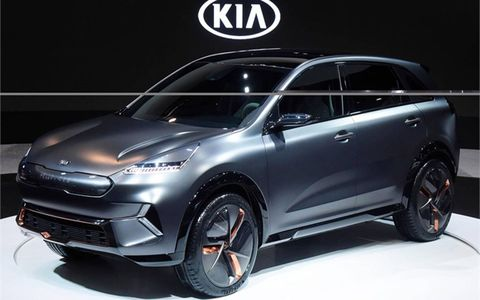 Kia says the Niro EV will be the first of five EVs it'll make by 2025.