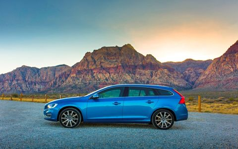 The V60 wagon offers 44 cubic feet of cargo space, enough to hold a 55-gallon rain barrel with room to spare.