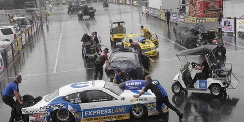 Just as rain threatened an NHRA event last year in Charlotte, it has caused the cancellation of events in Pennsylvania.