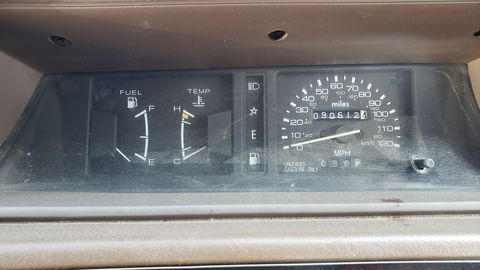 Unlike most American-built Dodges, the Japanese-built Colt had a six-digit odometer. This one never quite made it to 100,000 miles.