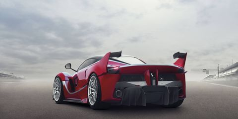 Those rear wings look goofy, but Ferrari says they contribute to significant gains in downforce.