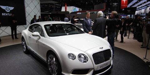 The Bentley Continental V8 S will be available for both coupe and convertible models.