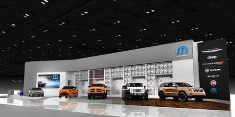 The Mopar Custom Shop at the Detroit auto show will offer personalization ideas for all Chrysler brands.