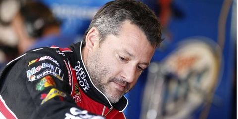 Tony Stewart currently ranks in the Sprint Cup standings.