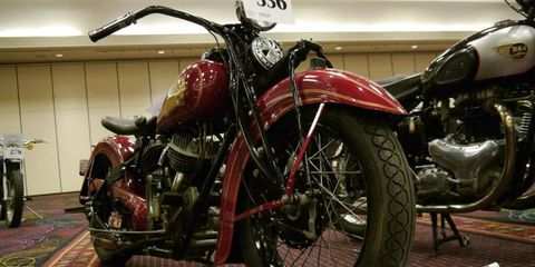 Steve McQueen's Indian Chief leads the Bonhams motorcycle auction at Bally's Las Vegas.