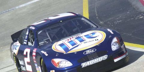 Rusty Wallace, shown driving the No. 2 NASCAR Sprint Cup car in the late '90s, will test his old car on Thursday in Daytona.