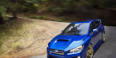 Pictures of the 2015 Subaru WRX STI leaked on Wednesday before the Detroit auto show