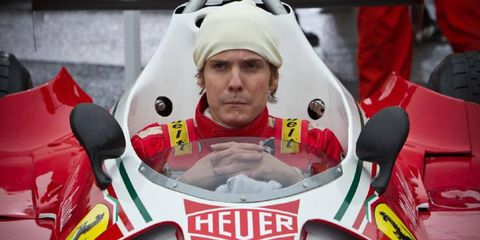Daniel Brühl was widely praised for his turn as Formula One driver Niki Lauda.