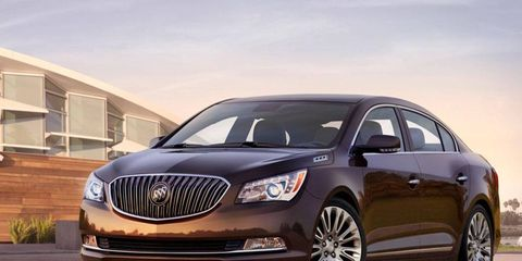 The 2014 Buick LaCrosse Premium is visually appealing.