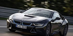 Test drive of the 2015 BMW i8 prototype.