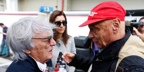 The maximum penalty facing Bernie Ecclestone, left, in Germany is 10 years, according to a German newspaper covering the case.