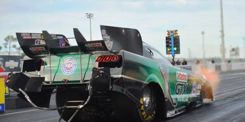 Defending NHRA Funny Car champion John Force was second quickest in testing on Friday in Florida.