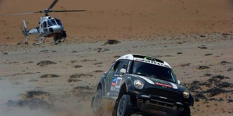 Stephane Peterhansel has a 30-second lead going into the final stage on Saturday in South America.